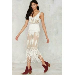 Chantilly Lace Dress from Nasty Gal