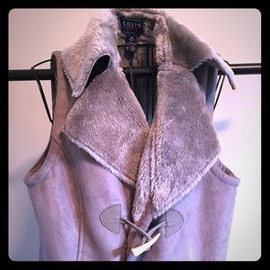 Chaps Faux fur vest