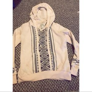 Tribal Print BILLABONG v-neck hoodie