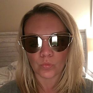NWT Gold Frame Sunglasses with Light Brown Lenses