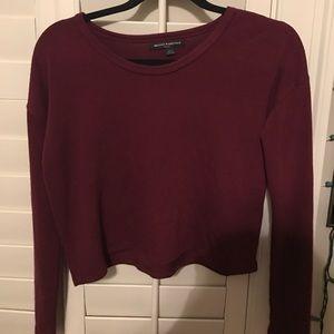 brandy cropped sweater