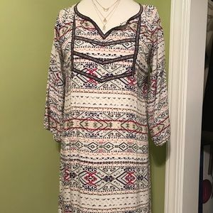 Skies are blue boho dress- excellent condition