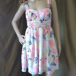 😺 ADORABLE Pastel Floral Sleeveless Dress