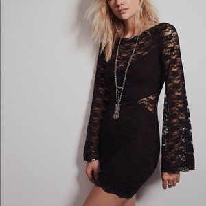 Free People Lovely in Lace bodycon dress