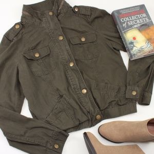 Forever 21 Army Green Lightweight Utility Bomber