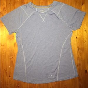 Blue L.L. Bean S REG gently worn short sleeved top