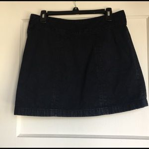 Free people vegan dark wash mini skirt