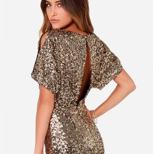 Glory never Fades gold sequin dress