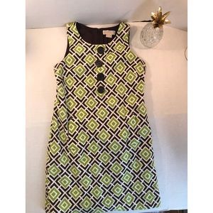 Michael Kors Green Sheath Sleevless Dress  Sz 10
