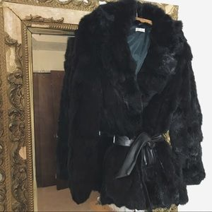 VINTAGE/ rabbit fur coat