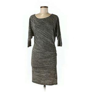 Max Studio Grey Dress with Metallic Threading