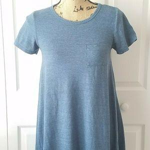 LuLaRoe Carly Dress Solid Blue Size XXS