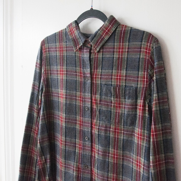 4d2312ed0fe L.L. Bean Tops | Ll Bean Scotch Plaid Flannel Shirt In Grey Stewart ...