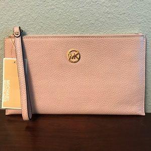 Michael Kors Fulton blossom leather clutch wallet