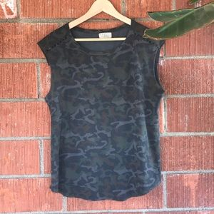 Zara camo sleeveless t-shirt
