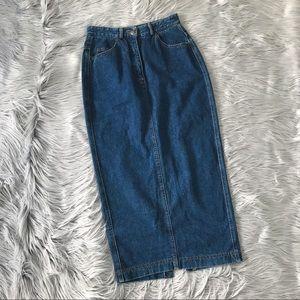 VINTAGE DKNY Extra Long Pencil Skirt