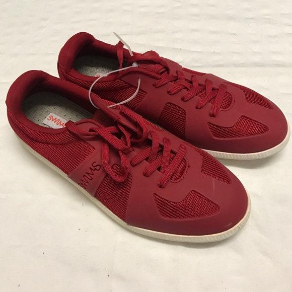 brand new 0b477 e0459 New Mens RED SWIMS LUCA SNEAKER Trainers, Size 6