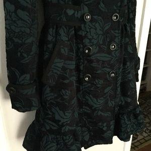 Anthropologie Jackets & Coats - Elevenses Emerald Isle Brocade Coat
