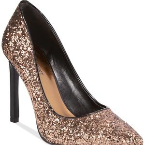 Nine West Tatiana glitter pumps.