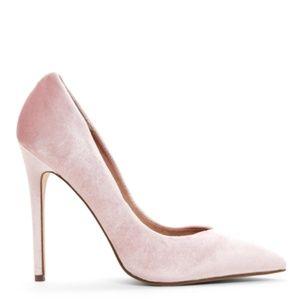 Pink Velvet Steve Madden Heels