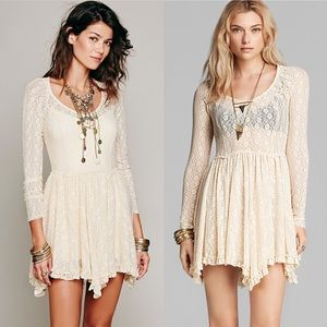 Free People Intimately Witchy Lace Slip Dress