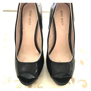 Nine West black super high heels