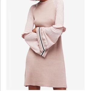 Free People Knit Mini Sweater Dress Sz Xs