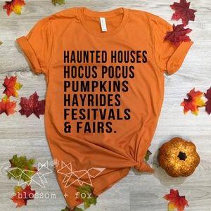 Halloween List Tee  - Women's Halloween Shirt