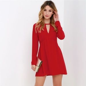 Babydoll All in Red Swing dress
