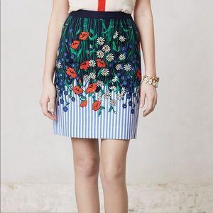 NWT Anthropologie Postmark Vertical Garden Skirt