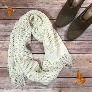 Merona Knitted Ivory Winter Scarf One Size