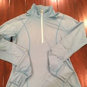 Turquoise Old Navy LS Warmup Workout top EUC XS