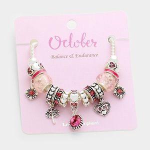 Jewelry - October Multi-bead birthstone heart charm bracelet