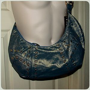 Vieta Bags - Vieta Blue Green Gold Shoulder Style Hobo Bag
