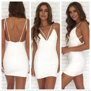 BNWT lace bodycon criss cross lace strap dress