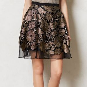 NWT Anthropologie Eva Franco Gilt Bouquet Skirt