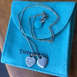 """Tiffany & Co Heart Charm Necklace 16"""""""