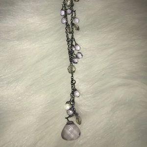 Amethyst fashion necklace