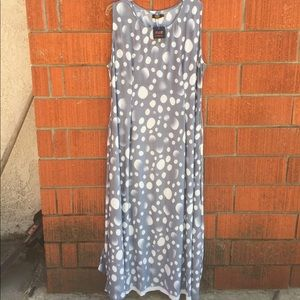 Grey and white maxi dress NWT