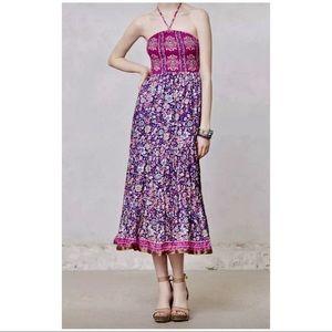 Maeve For Anthropologie Daleka Silk Day Dress | M