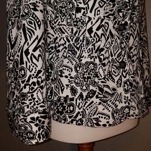 Sag Harbor Jackets & Coats - Black white floral dressy jacket blazer