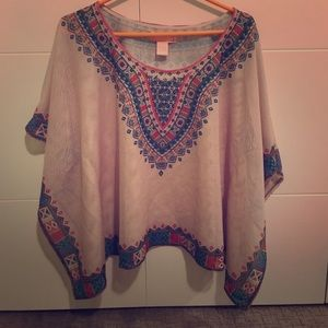 Flying tomato boho cape sturdy net top size small
