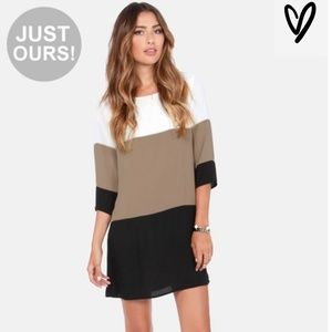 Citrus Grove Taupe Shift Dress