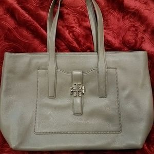 Tory Burch ~ Meyer Plaque Porcini Tote