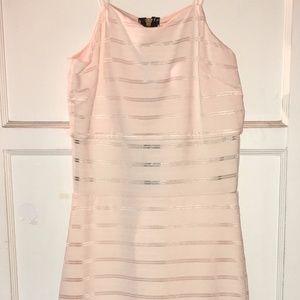 Kardashian Kollection LT Pink Ribbed Bodycon Dress