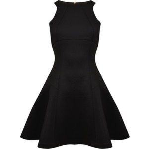 Ted Baker Cidia fit and Flare skater black dress