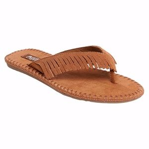 NEW Tan Leather Moccasin Style Sandals Size 11