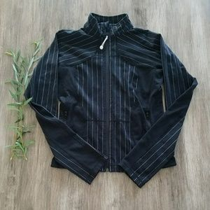 Lululemon pin stripe track jacket