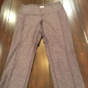 Charcoal Old Navy Compression Yoga Crops XS NWOT