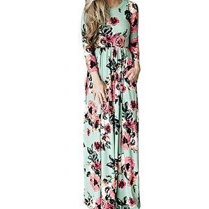 🍂Fall Fashion🍂 Quatrter Sleeve Maxi Dress